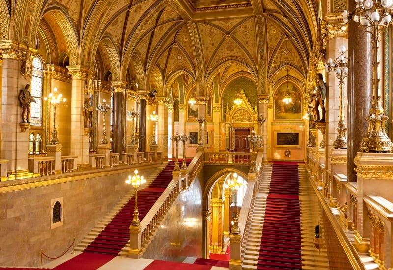 内部议会布达佩斯 免版税库存图片