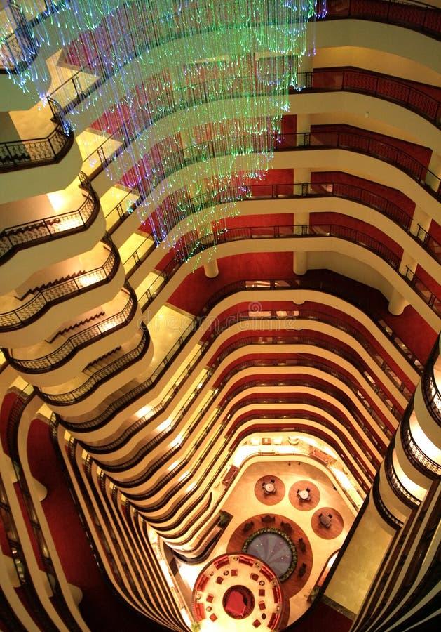 内部阳台的楼层 免版税库存图片