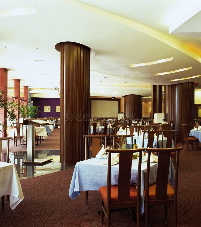 内部餐馆 免版税图库摄影