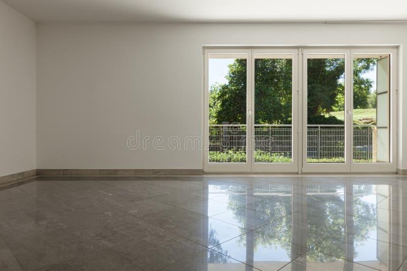 内部,居住与窗口 免版税图库摄影