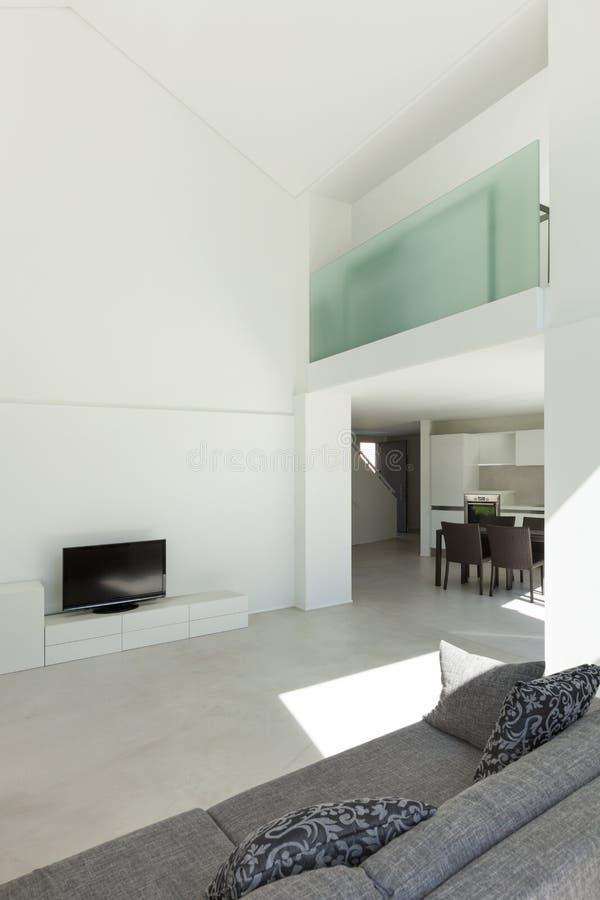 内部,有沙发的客厅 免版税图库摄影