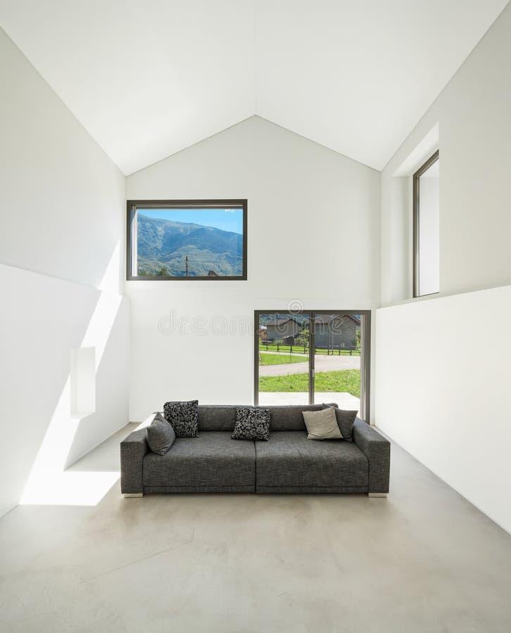 内部,有沙发的客厅 库存图片