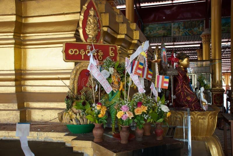 内部 塔在Bago, Pegu镇  缅甸 缅甸 免版税库存图片