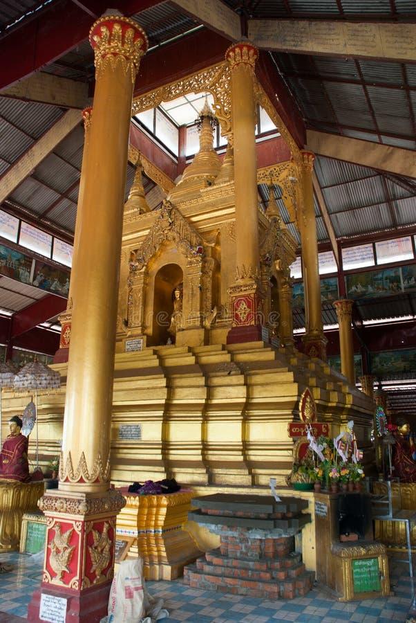 内部 塔在Bago, Pegu镇  缅甸 缅甸 库存照片