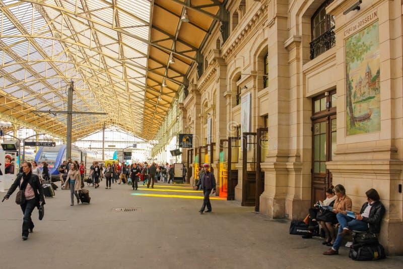 内部 火车站 浏览 法国 免版税库存照片