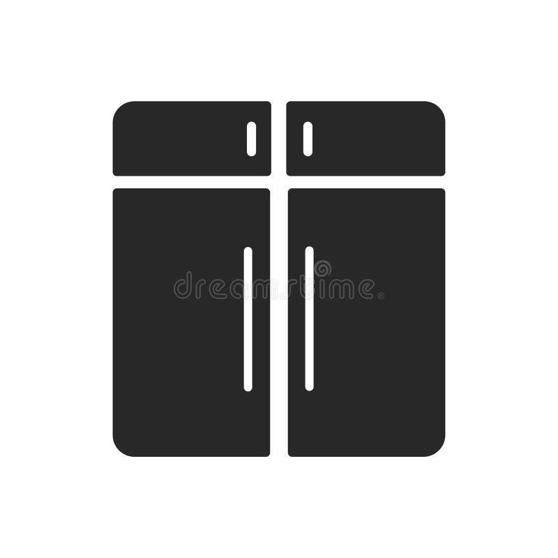 内阁象在白色背景和标志隔绝的传染媒介标志,内阁商标概念 皇族释放例证