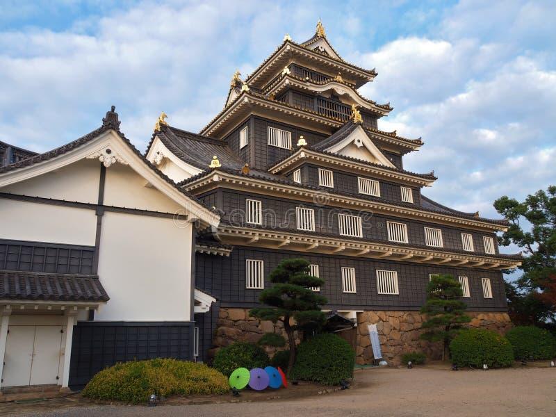 冈山城堡在冈山县,日本 免版税库存照片