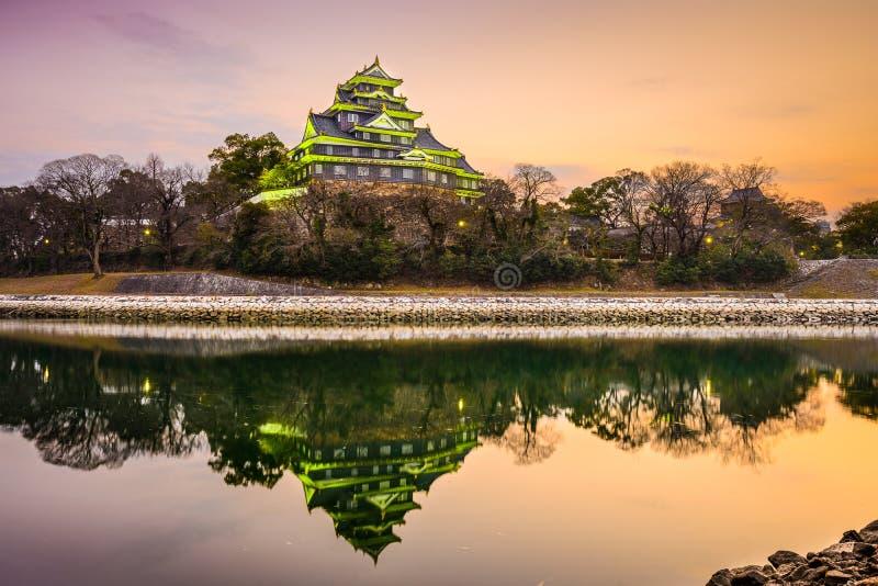 冈山城堡在日本 库存照片