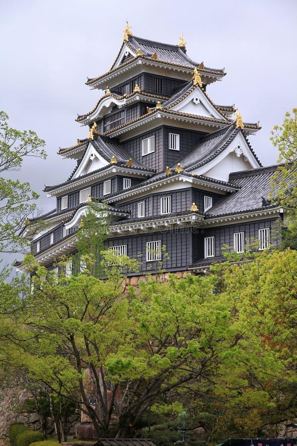 冈山城堡,日本 库存照片