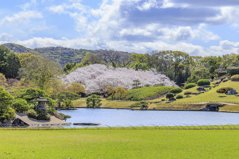 冈山城堡 免版税库存照片