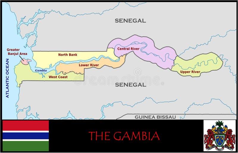 冈比亚管理部门 库存例证