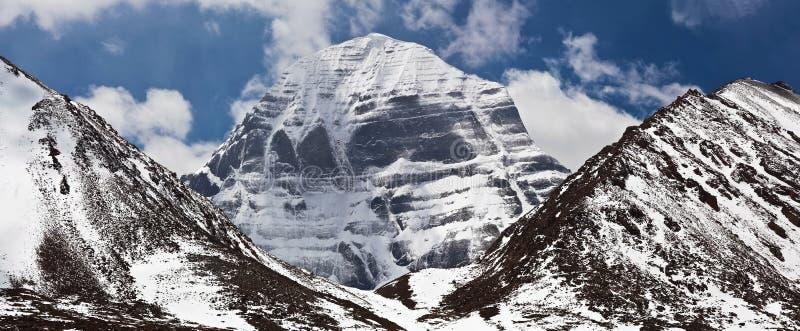 冈仁波齐峰,西藏的北部面孔 库存照片