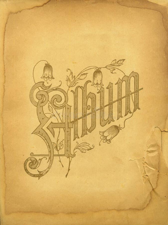 册页封面照片葡萄酒 免版税库存照片