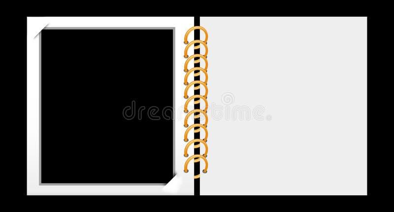 册页照片 库存例证