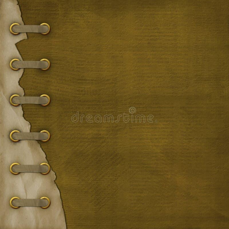 册页盖子grunge丝带 向量例证