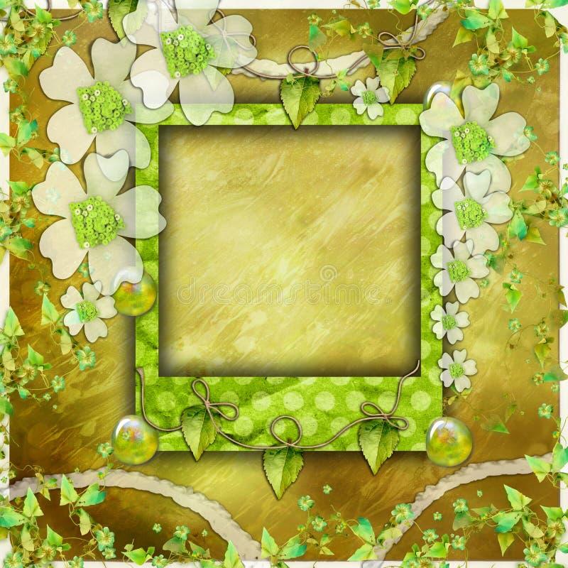 册页绿色照片剪贴薄 库存图片