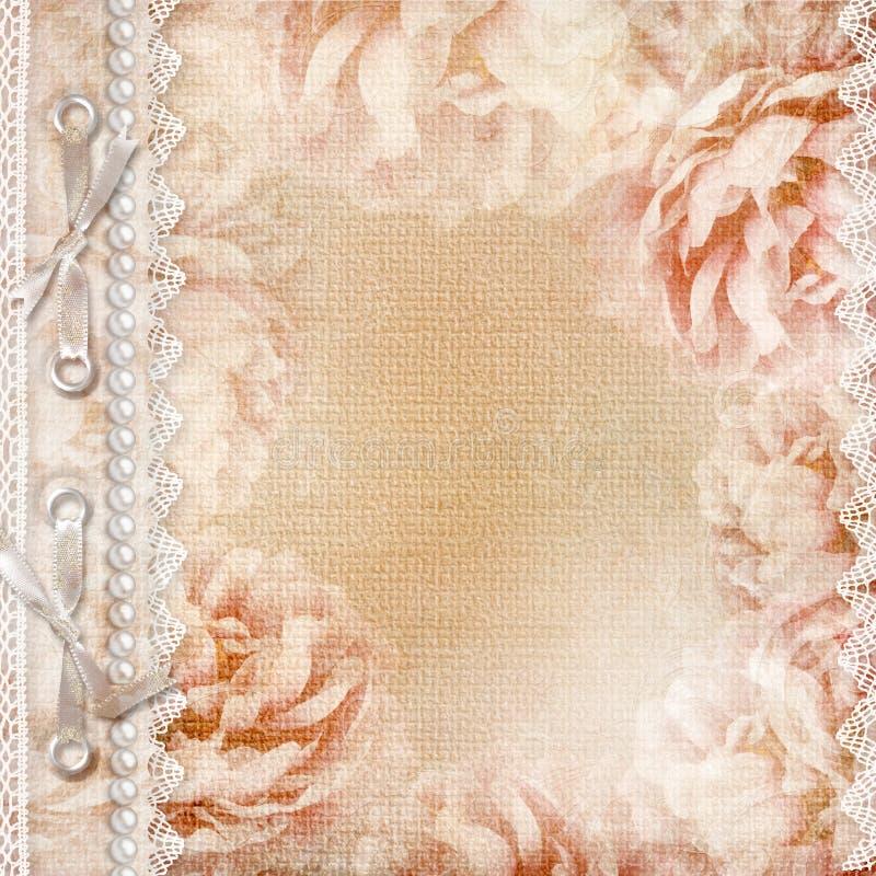 册页美丽的盖子grunge玫瑰 图库摄影