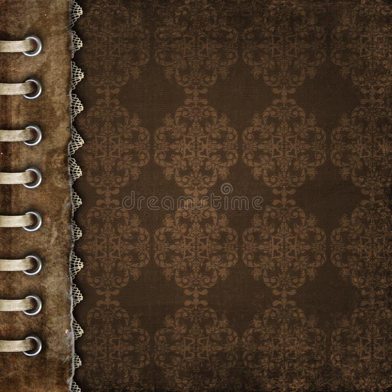 册页褐色盖子 库存例证