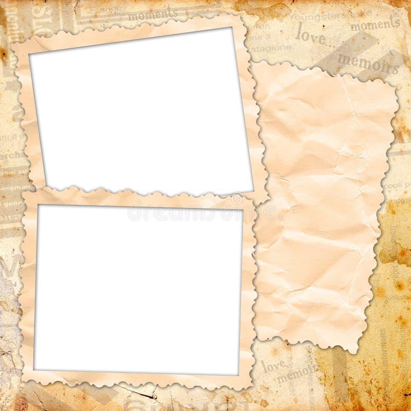 册页设计照片模板 向量例证