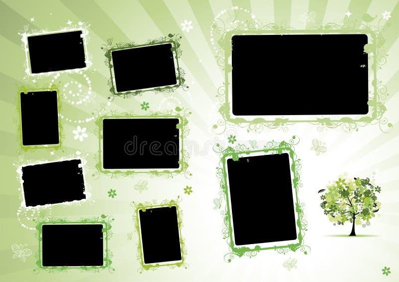 册页设计页照片 向量例证