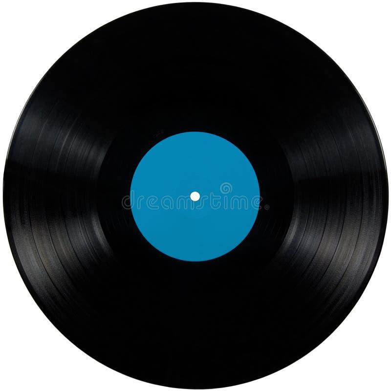 册页黑色光盘盘查出的lp记录乙烯基 免版税图库摄影