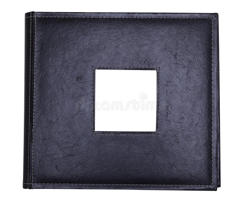 册页黑色皮革 免版税库存图片