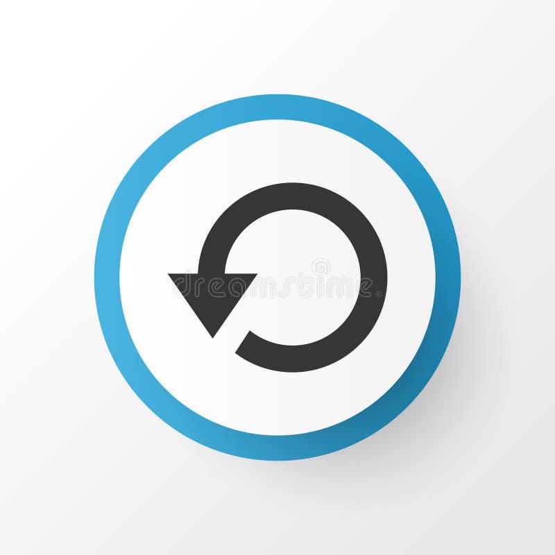 再放象标志 被隔绝的优质质量刷新在时髦样式的元素 向量例证