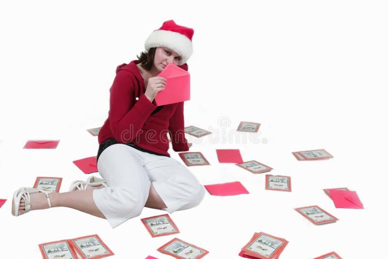 再看板卡圣诞节时间 免版税库存照片