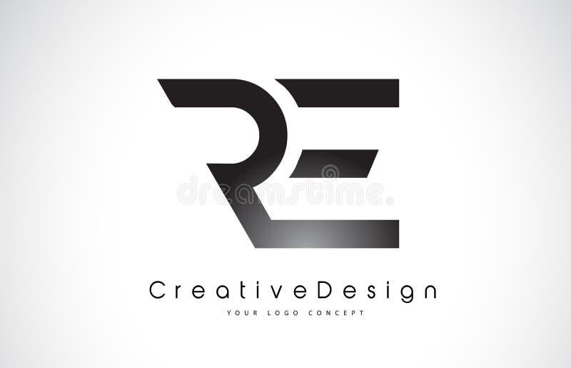 再R E信件商标设计 创造性的象现代信件传染媒介L 皇族释放例证