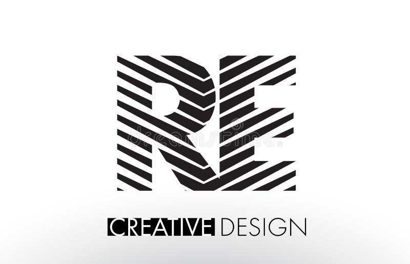 再R E排行与创造性的典雅的斑马的书信设计 皇族释放例证