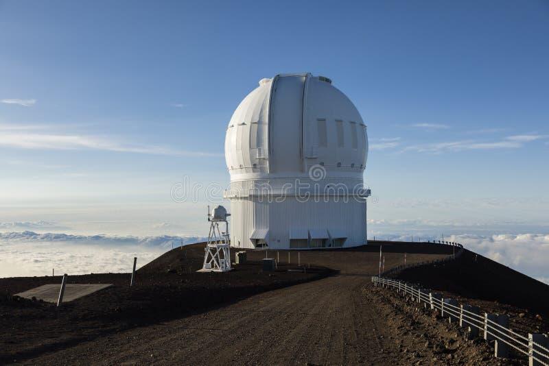 冒纳凯阿火山加拿大法国夏威夷望远镜CFHT,大岛,夏威夷 图库摄影