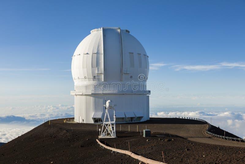 冒纳凯阿火山加拿大法国夏威夷望远镜CFHT,大岛,夏威夷 免版税库存照片