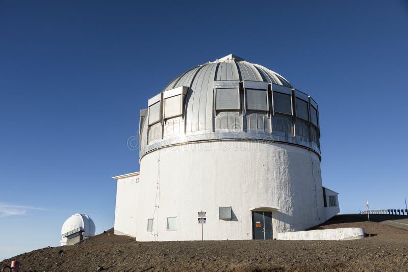 冒纳凯阿火山英国红外望远镜UKIRT,大岛 库存照片
