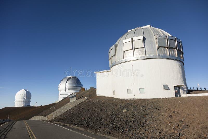 冒纳凯阿火山英国红外望远镜UKIRT,大岛 免版税库存照片