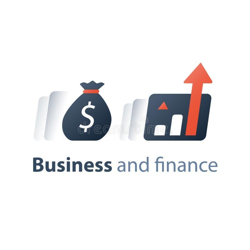 冒险企业成长战略,投资基金性能报告,有活力的市场数据逻辑分析方法,经济风险评估 皇族释放例证