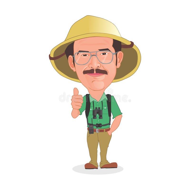 冒险家动画片 向量例证