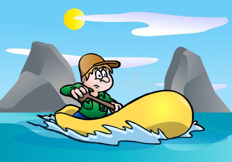 冒险小船 向量例证