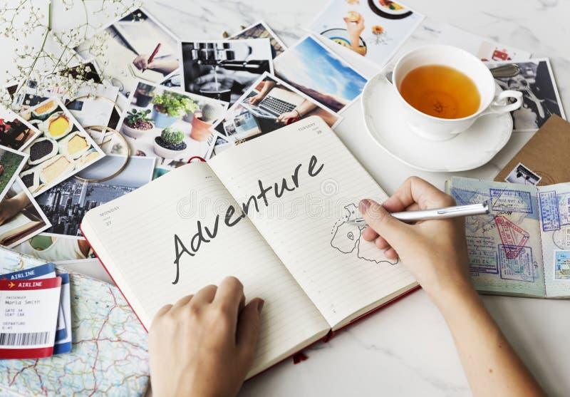 冒险探险旅途旅行目的地旅行概念 免版税库存图片