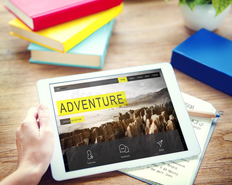 冒险探险旅途目的地旅行癖概念 库存图片