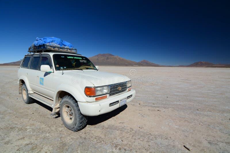 冒险旅行 平Chiguana的盐 波托西部门 流星锤 库存照片