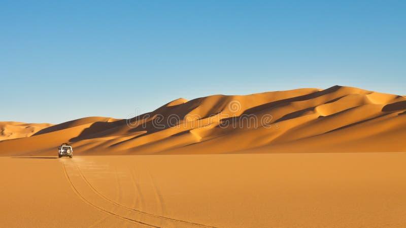 冒险沙漠徒步旅行队撒哈拉大沙漠 库存照片