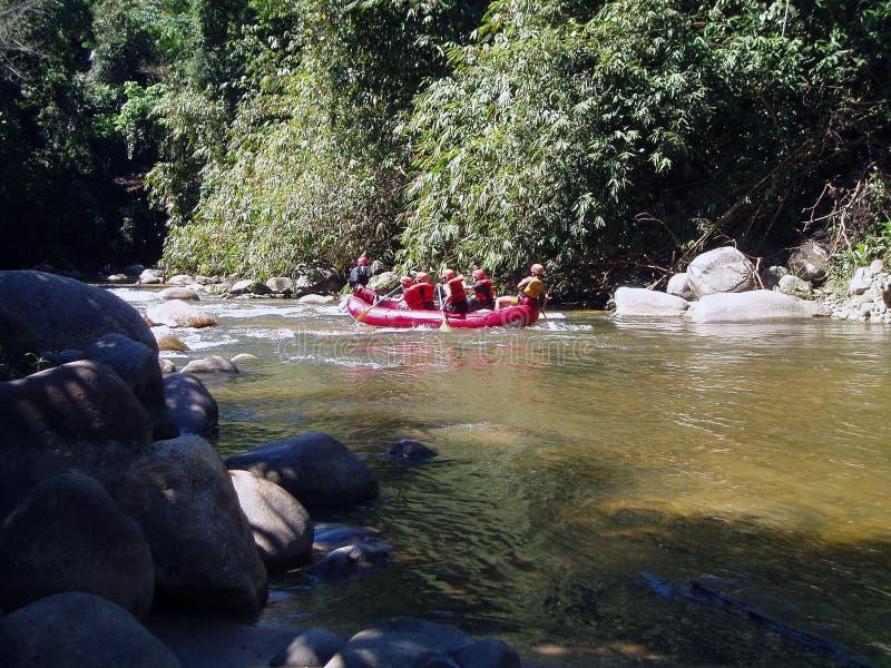 冒险用筏子运送 库存图片