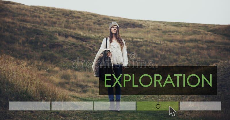 冒险目的地发现旅行探险假期象 免版税库存图片