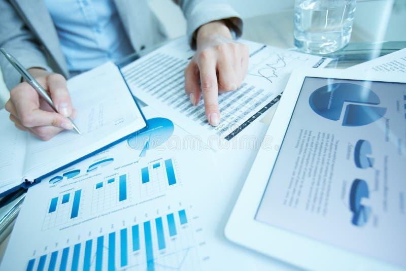 写下数据 免版税图库摄影