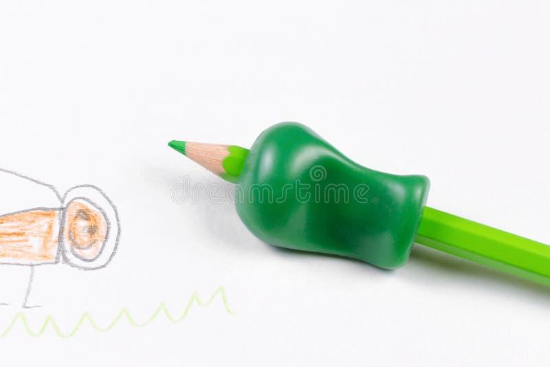 写为帮助的工具由铅笔不正确藏品  免版税库存图片