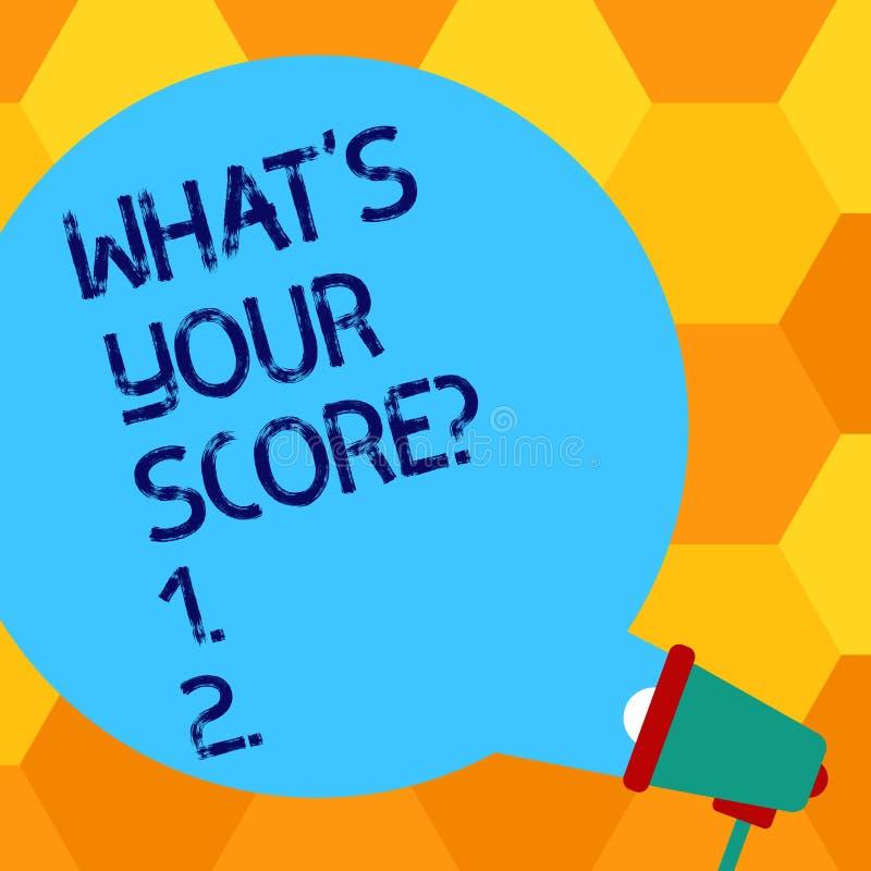 写什么S您的比分的手写文本 在竞争比赛或研究空白的概念意思个人成绩规定值 向量例证