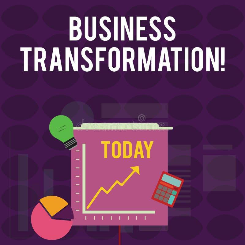 写企业变革的手写文本 概念意思与战略改善排列他们的商业模型 皇族释放例证