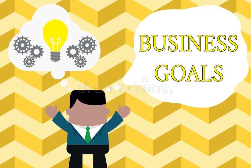 写企业目标的手写文本 意味期望的概念完成在一具体时段 向量例证