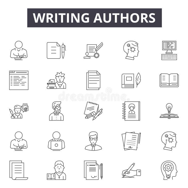 写作者排行网和流动设计的象 编辑可能的冲程标志 写作者概述概念 库存例证