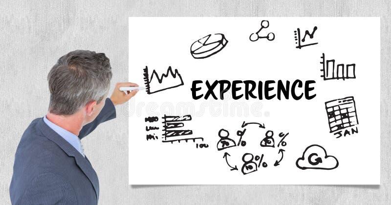写关于经验的CEO ` s图表 向量例证